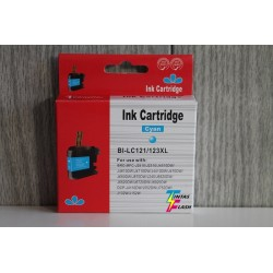TINTA  BROTHER LC121/123XL Cyan COMPATIBLE