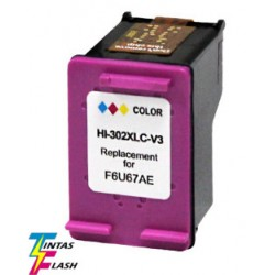 TINTA HP 302XL V.3 Color COMPATIBLE